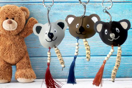 porte clés ourson fête des pères - Tête à Modeler