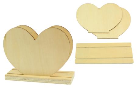 Porte-courrier coeur en bois - Range-courriers – 10doigts.fr