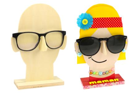 Porte-lunettes visage en bois - Fête des pères – 10doigts.fr