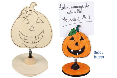 Marque-places en bois imprimé - Halloween – 10doigts.fr