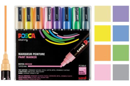 Marqueurs POSCA - Couleurs pastel - Marqueurs Posca – 10doigts.fr