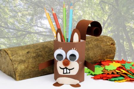 pot à crayons écureuil - Tête à Modeler