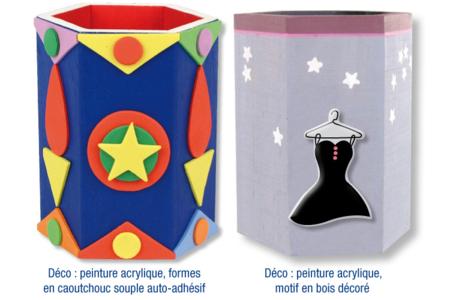 Pot à crayons hexagonal - Pots à crayons – 10doigts.fr