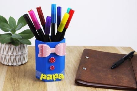 Pot à crayons PAPA - Fête des Pères – 10doigts.fr