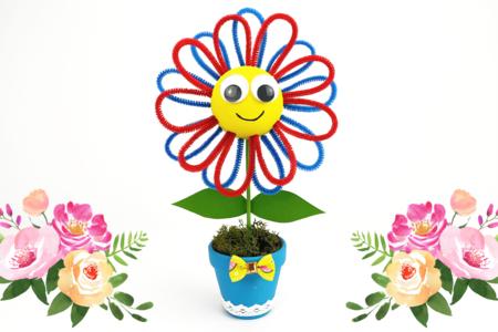 Petite fleur dans son pot - Activités enfantines – 10doigts.fr