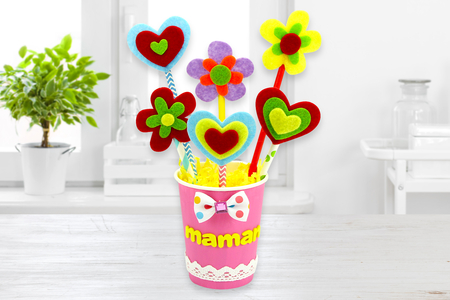 Un joli bouquet de fleurs pour Maman - Fête des Mères – 10doigts.fr