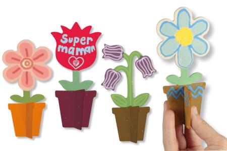 Pots de fleurs en bois 3D - Divers – 10doigts.fr