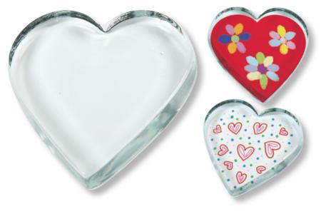 Presse-papier coeur, en verre - Lot de 10 - Verre – 10doigts.fr