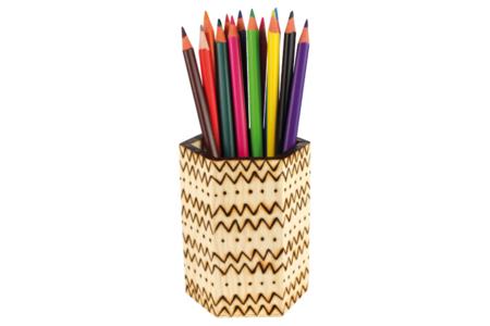 Pot à crayons héxagonal - Pots à crayons – 10doigts.fr