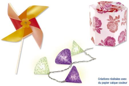 Papier calque, effet vitrail - 10 couleurs assorties - Papier calque – 10doigts.fr