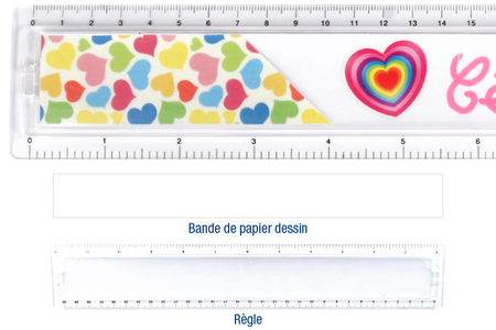 Règle à personaliser - Plastique Transparent – 10doigts.fr