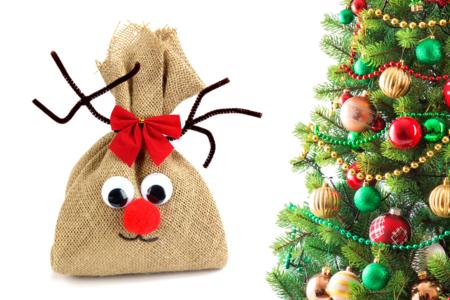 Renne de Noël en toile de jute - Noël – 10doigts.fr