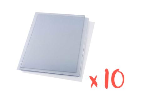 Plastique rhodoïd transparent - 10 feuilles - Films et feuilles plastique – 10doigts.fr
