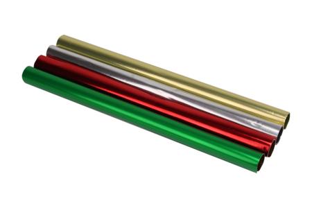 Rouleaux de papier aluminium métallisé - Set de 4 - Papier métallisé, pailleté, nacré – 10doigts.fr