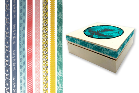 Rubans tissu adhésifs, motifs assortis - 8 bandes - Ruban et cordon – 10doigts.fr