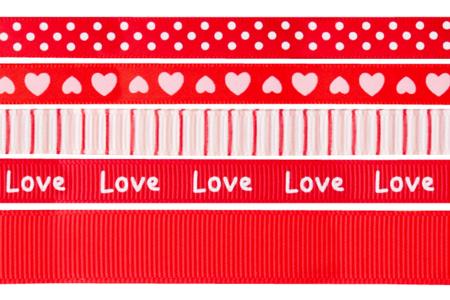 Rubans en camaïeu rouge - Set de 5 - Rubans et ficelles – 10doigts.fr