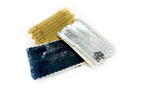 Rubans en sequin or, argent ou noir - Rubans, cordons – 10doigts.fr