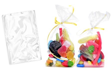 Pochettes en papier cristal transparent - lot de 100 - Transparent – 10doigts.fr