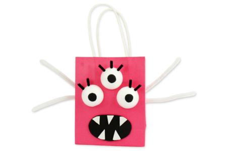 Sachets monstres en papier kraft - Halloween – 10doigts.fr