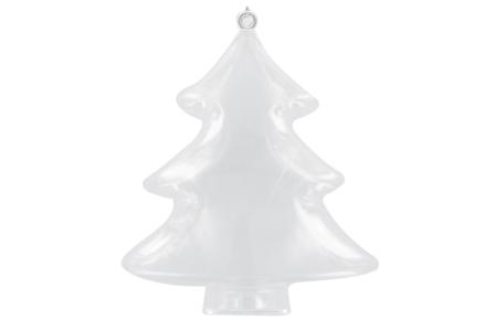 Sapin 3 en 1 à suspendre - Plastique Transparent – 10doigts.fr
