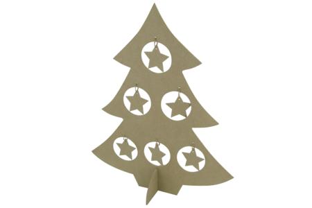 Sapin en carton papier mâché avec étoiles - Supports de fêtes en carton – 10doigts.fr