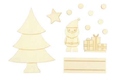 Scenette de Noël en bois à monter - Centre de table – 10doigts.fr