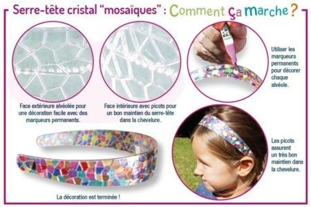 """Serre-têtes cristal """"mosaïques"""" à décorer - Activités enfantines – 10doigts.fr"""