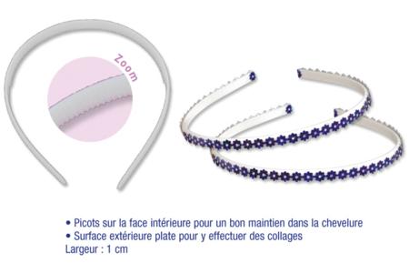 Serre-tête plat en plastique - Couleur au choix - Bijoux de cheveux – 10doigts.fr