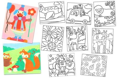 Cartes sable assorties - Set de 10 pièces - Sables colorés – 10doigts.fr