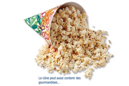 Cônes en carte forte blanche  - Lot de 10 - Mardi gras, carnaval – 10doigts.fr