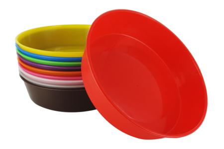 Coupelles en plastique, couleurs assorties - Palettes et rangements – 10doigts.fr