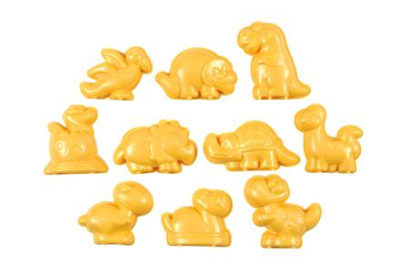 Moules dinosaure en plastique - 10 formes - Moules – 10doigts.fr
