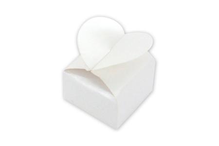 Set de 12 boîtes à dragées cœur, à décorer - Baptêmes, mariages – 10doigts.fr
