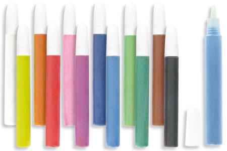 Tubes de sable fin - 12 couleurs - Sable coloré – 10doigts.fr