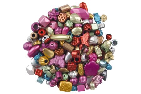 Perles fiesta métallisées - 120 perles - Perles acrylique – 10doigts.fr