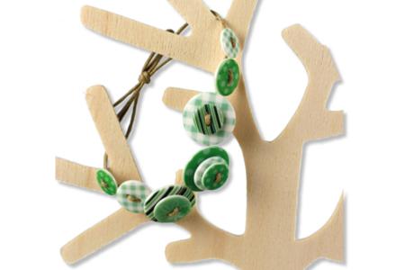 Boutons en acrylique, camaïeu vert - Set de 28 - Boutons – 10doigts.fr