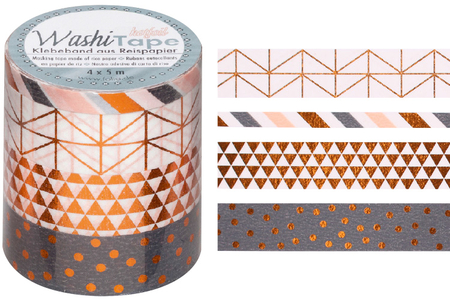 Masking tape - Cuivre métallisé - Masking tape (Washi tape) – 10doigts.fr