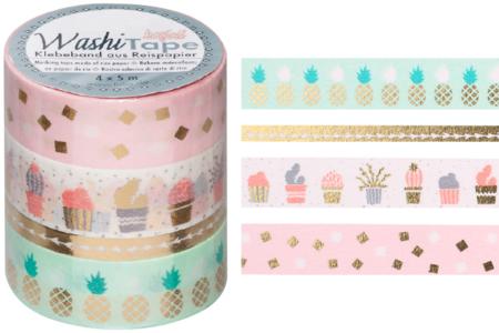 Masking tape - Or métallisé - Masking tape (Washi tape) – 10doigts.fr