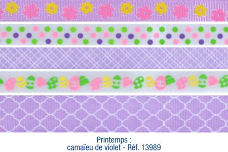 Rubans en camaïeu violet - Set de 5 - Rubans et ficelles – 10doigts.fr