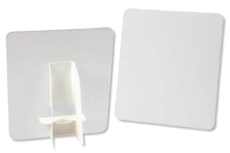 Chevalet et carte en carton blanc - Lot de 5 - Plaques et panneaux – 10doigts.fr