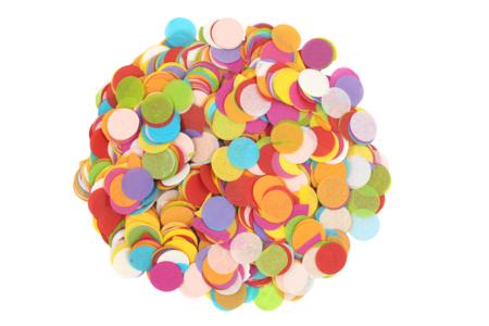 Confettis en papier de soie - 5000 pièces multicolores - Papier de soie – 10doigts.fr