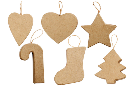 Ornements de Noël en carton - Set de 6 - Noël – 10doigts.fr