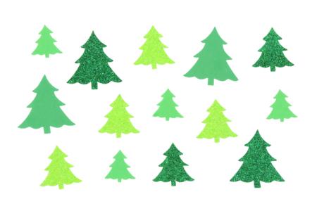 Sapins adhésifs caoutchouc mousse pailleté - Set de 60 - Gommettes et stickers Noël – 10doigts.fr