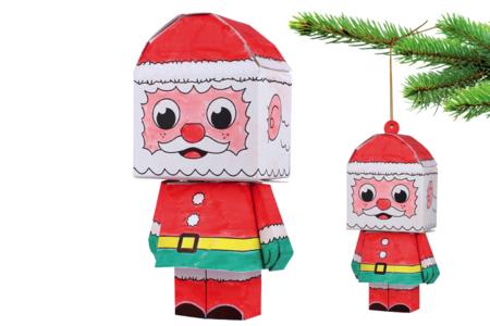 Paper toy Père Noël - Support pré-dessiné – 10doigts.fr
