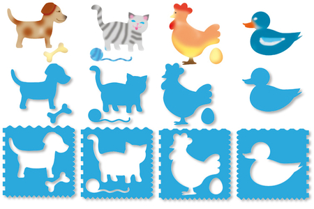 Pochoirs ANIMAUX 3 en 1 - Set de 8 - Pochoir Animaux – 10doigts.fr