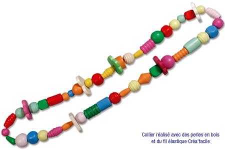 Perles en bois en camaïeu de rouges - Set de 110 - Perles en bois – 10doigts.fr