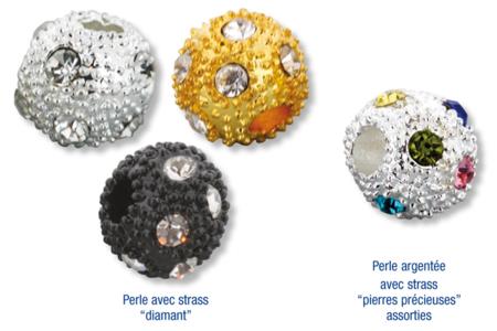 Shamballas... avec des perles en métal incrusté de strass diamant - Bijoux Shamballas – 10doigts.fr