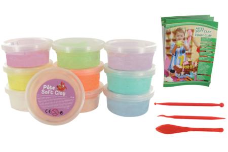 Pâtes à modeler Soft Clay pastel - 10 pots - Pâtes à jouer – 10doigts.fr