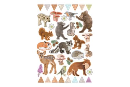 Stickers animaux de la forêt réaliste - Set de 80 - Gommettes animaux – 10doigts.fr