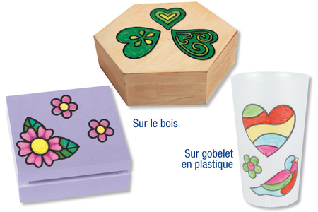 Stickers transparents à colorier - Stickers à décorer – 10doigts.fr